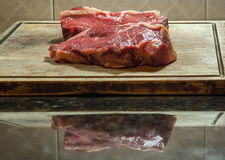 阿根廷牛排 典型的阿根廷asado 库存图片