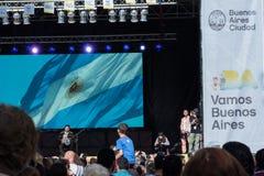 阿根廷现场录象 库存照片