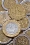 从阿根廷的各种各样的硬币 图库摄影