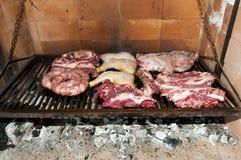 从阿根廷的烤肉肉 免版税库存图片