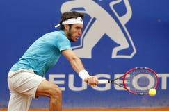 阿根廷网球员莱昂纳多・梅耶尔 免版税库存照片