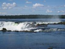 阿根廷巴西恶魔喉头瀑布 图库摄影