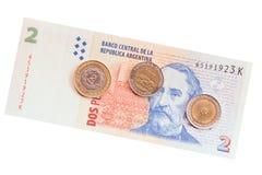 阿根廷金钱 免版税库存图片