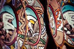 从阿根廷,南美的纪念品面具。 免版税库存照片