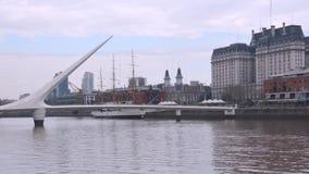 阿根廷,布宜诺斯艾利斯都市风景马德罗港时间间隔 股票录像