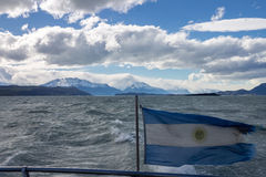 阿根廷argentino calafate el湖 库存照片