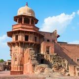 阿格拉堡在北方邦,印度 免版税库存图片