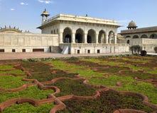 阿格拉堡垒印度mahal红色sheesh 库存图片