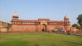 阿格拉堡是位于阿格拉的联合国科教文组织世界遗产名录站点,印度 库存照片