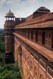 阿格拉防御长处印度墙壁 免版税库存照片