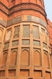 阿格拉,印度,大厦的元素德里红堡 免版税库存照片