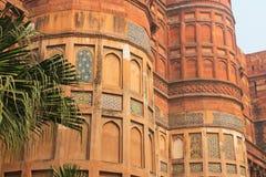 阿格拉,印度,大厦的元素德里红堡 免版税库存图片