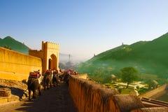 阿梅尔全景从琥珀色的堡垒的 免版税库存照片