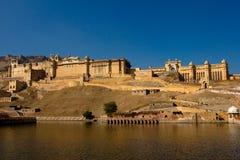 阿梅尔堡垒在斋浦尔,印度 库存图片