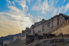 阿梅尔堡垒,斋浦尔 免版税库存图片
