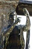阿波罗上帝雕象在庞贝城 免版税库存图片
