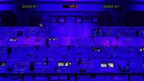 阿波罗使命在肯尼迪航天中心的发射控制中心 免版税库存图片