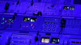 阿波罗使命在肯尼迪航天中心的发射控制中心 图库摄影