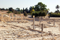 阿波罗寺庙和废墟在Amathus 免版税库存照片