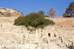 阿波罗寺庙和废墟在Amathus 库存图片