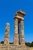 阿波罗寺庙在罗得岛 免版税库存照片