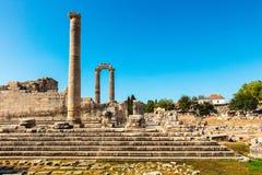 阿波罗寺庙在Didym,土耳其 免版税图库摄影