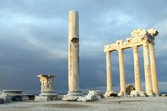 阿波罗寺庙废墟 免版税库存图片