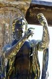 阿波罗庞贝城雕象  免版税图库摄影