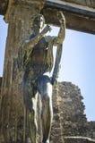 阿波罗庞贝城雕象  库存照片
