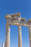 阿波罗教堂在古老边的在土耳其 免版税库存照片