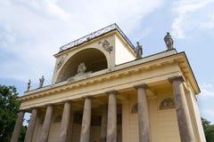 阿波罗教堂在Lednice-Valtice文化风景的,摩拉维亚,捷克 免版税库存图片