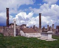 阿波罗教堂,庞贝城,意大利。 库存图片