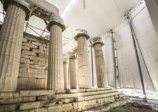 阿波罗教堂Epicurius, Argolida,希腊 库存图片