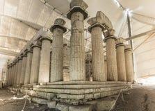 阿波罗教堂Epicurius, Argolida,希腊 免版税库存图片