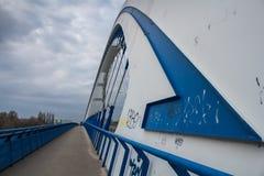 阿波罗桥梁和路的线 免版税库存图片