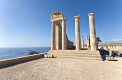 阿波罗海岛罗得斯寺庙 库存图片