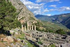 阿波罗特尔斐希腊寺庙 免版税库存图片