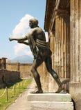 阿波罗雕象在波纳佩废墟的  图库摄影