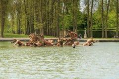 阿波罗,凡尔赛喷泉  库存照片