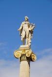 阿波罗,雅典科学院,希腊雕象  图库摄影