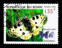 阿波罗(Parnassius阿波罗),蝴蝶serie,大约1998年 库存图片