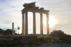 阿波罗` s寺庙 端,土耳其 库存照片