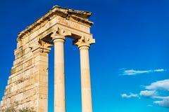 阿波罗hylates圣所 利马索尔区 塞浦路斯 免版税库存图片
