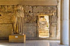 阿波罗Patroos雕象 免版税图库摄影
