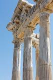 2阿波罗s寺庙 在边的古老废墟 免版税库存图片