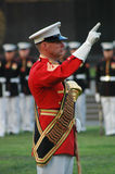 阿灵顿仪式Iwo Jima纪念日落战争 免版税库存照片