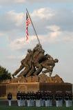 阿灵顿仪式Iwo Jima纪念日落战争 库存照片