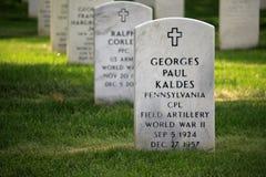 阿灵顿国家公墓坟茔 免版税库存图片