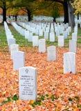 阿灵顿墓地国民墓碑 免版税图库摄影