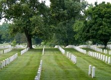 阿灵顿墓地国民 免版税图库摄影